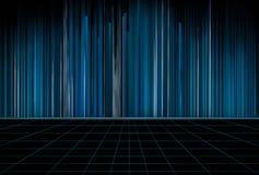 Futuristische abstracte digitale het conceptenachtergrond van de wetenschapstechnologie 3D Illustratie stock illustratie