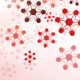 Futuristische abstracte DNA Stock Afbeeldingen