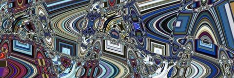 Futuristische abstracte panoramische achtergrond stock afbeelding