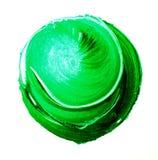 Futuristische Abstraktion auf einem weißen Hintergrund Acrylmuster in Form eines Kreises der grünen Farbe Stockfotos