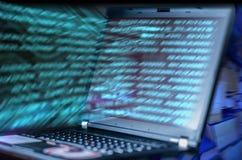 Futuristische Abstraktion des Laptops Lizenzfreies Stockbild