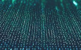 Futuristische achtergrond met binaire code Bescherming en uitwisseling van gegevens in het mondiale net vector illustratie
