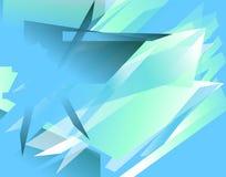 Futuristische achtergrond met hoekige, gespannen vormen Samenvatting geomet Stock Foto