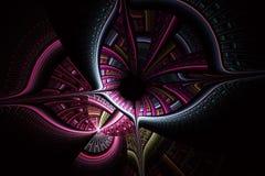 Futuristische achtergrond met optische illusie stock illustratie