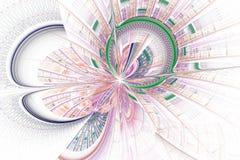 Futuristische achtergrond met optische illusie vector illustratie