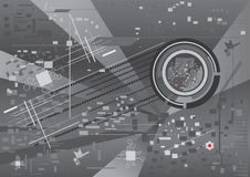 Futuristische achtergrond, vectorillustratie Royalty-vrije Stock Foto