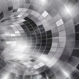 Futuristische achtergrond, virtuele tunnel Gestileerd Retro Stock Foto's