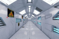 Futuristische achtergrondarchitectuurgang Stock Fotografie