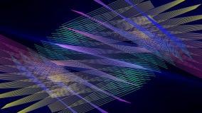 Futuristische animatie met het voorwerp van de deeltjesstreep en licht in motie, lijn HD 1080p stock videobeelden