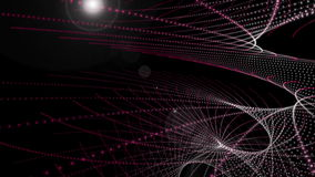 Futuristische animatie met het voorwerp van de deeltjesstreep en licht in motie, lijn HD 1080p stock video