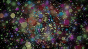 Futuristische animatie met licht deeltjesvoorwerp in langzame motie, 4096x2304-lijn 4K stock videobeelden