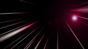 Futuristische animatie met streepvoorwerp en licht in motie, lijn HD 1080p stock videobeelden
