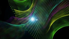 Futuristische Animation mit Partikelgegenstand und Licht, Schleife HD 1080p stock footage