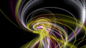 Futuristische Animation mit Partikelstreifengegenstand und Blinklicht in der Zeitlupe, 4096x2304 Schleife 4K stock abbildung