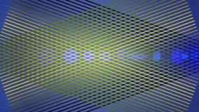 Futuristische Animation mit Streifengegenstand und Licht, Schleife HD 1080p stock video