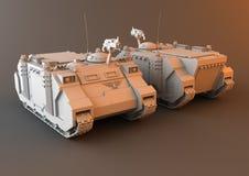 Futuristische APC Tank Stock Afbeelding