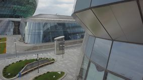 Futuristische architectuur in Astana stock video