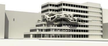 Futuristische architectuur illust Stock Afbeeldingen