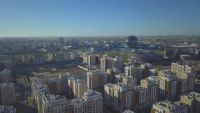 Futuristische architectuur van Astana stock footage