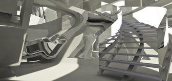 Futuristische architectuurinteri royalty-vrije stock afbeeldingen