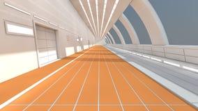 futuristische Architektur 3d Lizenzfreies Stockbild