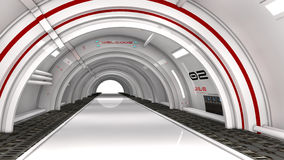 futuristische Architektur 3d Lizenzfreie Stockfotografie