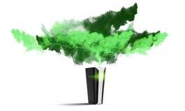 Futuristische Bank der schwarzen Energie Lizenzfreie Stockfotos