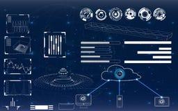 Futuristische Benutzerschnittstelle Stockfotografie