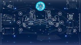 Futuristische Benutzerschnittstelle für GyroScooter Stockbilder