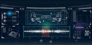 Futuristische Benutzerschnittstelle für GyroScooter Lizenzfreies Stockbild