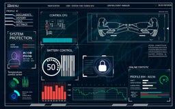 Futuristische Benutzerschnittstelle für GyroScooter Stockfotos