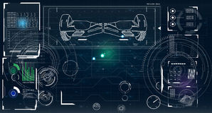 Futuristische Benutzerschnittstelle für GyroScooter Stockfoto