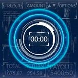 Futuristische Benutzerschnittstelle für Handelsanwendungen Stockfoto