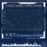 Futuristische Benutzerschnittstelle für Handelsanwendungen Stockfotos