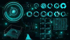 Futuristische Benutzerschnittstelle HUD Stockfoto