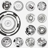 Futuristische Benutzerschnittstelle HUD Lizenzfreie Stockfotografie