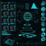 Futuristische Benutzerschnittstelle HUD Stockfotografie