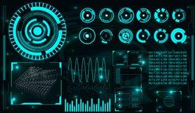 Futuristische Benutzerschnittstelle HUD Lizenzfreies Stockbild