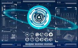 Futuristische Benutzerschnittstelle HUD Lizenzfreie Stockbilder