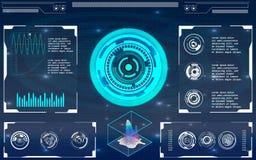Futuristische Benutzerschnittstelle HUD Stockbild