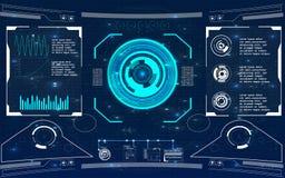 Futuristische Benutzerschnittstelle HUD Lizenzfreies Stockfoto