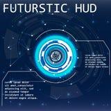 Futuristische Benutzerschnittstelle HUD Lizenzfreie Stockfotos