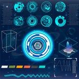 Futuristische Benutzerschnittstelle HUD Stockfotos