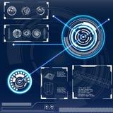 Futuristische Benutzerschnittstelle HUD Stockbilder