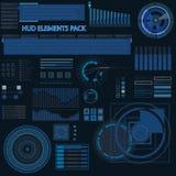 Futuristische Benutzerschnittstelle Hud mit infografic Elementen Lizenzfreie Stockbilder