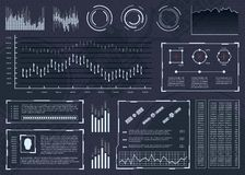 Futuristische Benutzerschnittstelle mit Elementen von infographics Benutzeranzeige abstrakte Raumschnittstelle Stockfotos