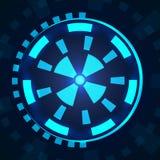 Futuristische Benutzerschnittstelle Sci FI HUD lizenzfreie abbildung
