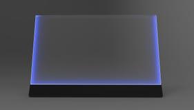 Futuristische Bildschirm 3d Illustration Lizenzfreie Stockfotografie