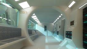Futuristische binnenlandse architectuur vector illustratie