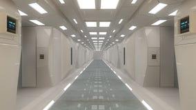 Futuristische binnenlandse architectuur Royalty-vrije Stock Foto's
